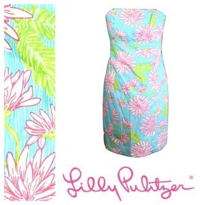 Lilly Pulitzer Franco Floral Strapless Dress 0
